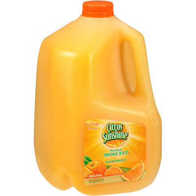 Citrus Sunshine® No Pulp Original Premium Orange Juice from Concentrate