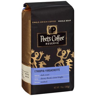Peet's Coffee® Reserve Dark Roast Ethiopia Yirgacheffe Whole Bean Coffee 10 oz. Bag