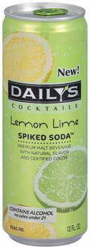 Daily's® Cocktails Spiked Soda™ Lemon Lime 12 fl. oz. Can