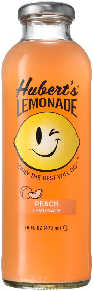 Hubert's® Peach Lemonade Juice 16 fl. oz. Bottle