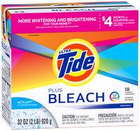 Tide Ultra Vivid White Plus Bright™ Original Scent Powder Laundry Detergent 32 oz. Package