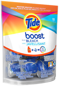 Tide Boost Vivid White + Bright™ High Efficiency In-Wash Booster 10 ct Pouch