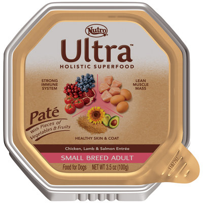 Nutro® Ultra™ Small Breed Adult Pate Chicken, Lamb & Salmon Entree Dog Food 3.5 oz. Tray