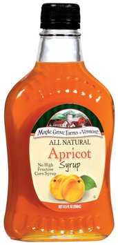 Maple Grove Farms Apricot Syrup 8.5 Oz Glass Bottle