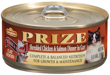 Springfield Prize Shredded Chicken & Salmon Dinner In Gravy Cat Food   Pull-Top Can