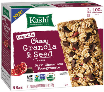 Kashi® Organic Dark Chocolate Pomegranate Chewy Granola & Seed Bars