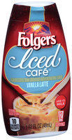 Folgers Iced Cafe™ Vanilla Latte Coffee Drink Concentrate 1.62 fl. oz. Squeeze Bottle