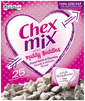 Chex Mix Muddy Buddies Valentines Peanut Butter and Chocolate Snack