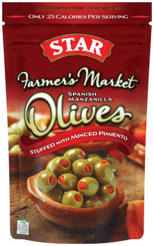 Star® Farmer's Market Stuffed With Minced Pimineto Spanish Manzanilla Olives 2.5 oz Bag