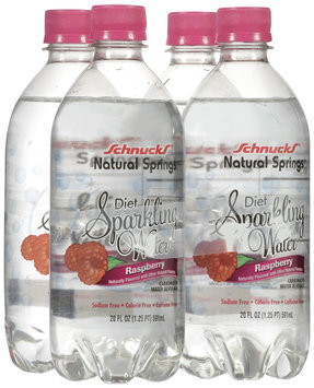 Schnucks ® Natural Springs ™ Diet Sparking Water Raspberry 8 OZ
