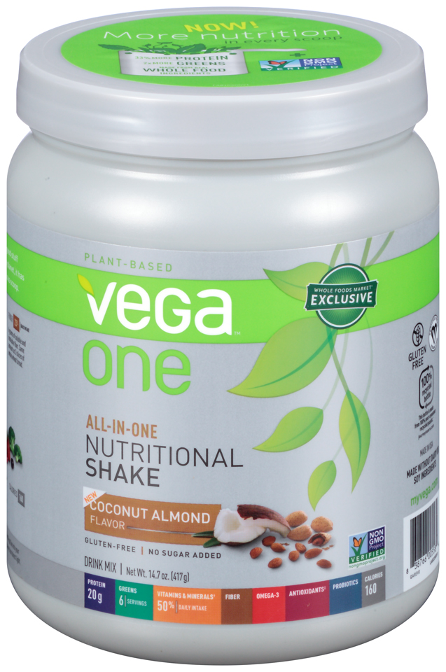 Vega™ One Coconut Almond Nutritional Shake Drink Mix 14.7 oz. Canister