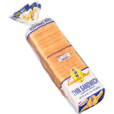 Evangeline Maid® Thin Sandwich Enriched Bread 20 oz. Loaf