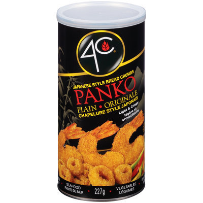 4C® Japanese Style Panko Plain Bread Crumbs 8 oz. Canister