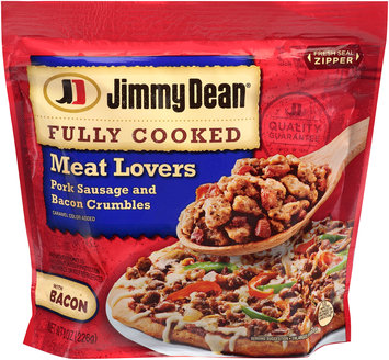Jimmy Dean® Fully Cooked Meat Lovers Pork Sausage and Bacon Crumbles 8 oz. Bag