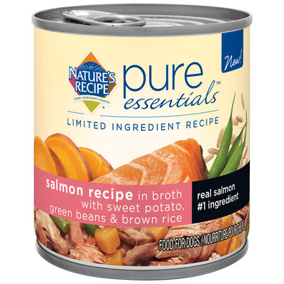 Nature's Recipe® Pure Essentials™ Salmon Recipe in Broth with Sweet Potato, Green Beans & Brown Rice Wet Dog Food Pull-Top Can
