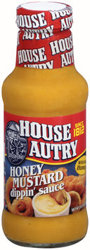 House Autry® Honey Mustard Dippin' Sauce 10.5 oz. Glass Bottle