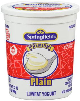 Springfield® Lowfat Yogurt Premium Plain 32 oz.