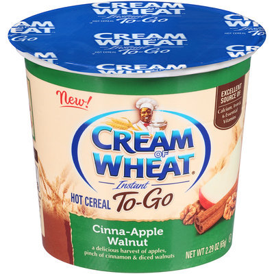 Cream of Wheat® Instant To-Go Cinna-Apple Walnut Hot Cereal 2.29 oz. Cup