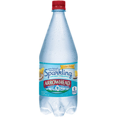 Arrowhead® Limited Edition Sparkling Coconut Pineapple Mountain Spring Water Bottle
