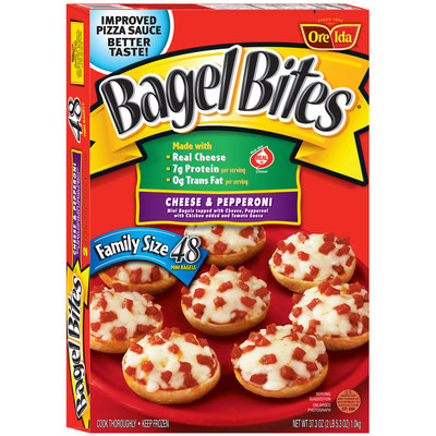 Bagel Bites® Family Size Cheese & Pepperoni Mini Bagels 48 ct Box