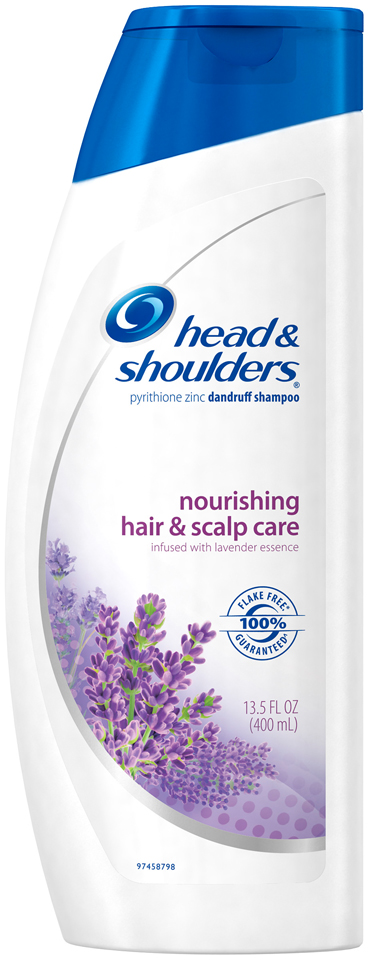 Nourishing Head and Shoulders Nourishing Hair and Scalp Care Dandruff Shampoo with Lavender Essence 13.5 fl oz
