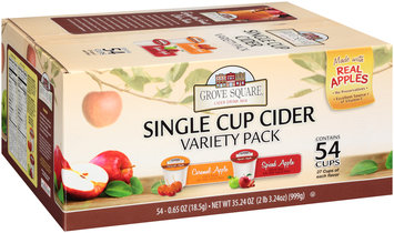Grove Square® Single Cup Cider Caramel Apple/Spiced Apple Drink Mix 35.24 oz. 54 ct K-Cup Box