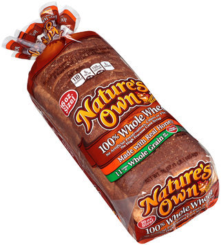 Nature's Own® 100% Whole Wheat with Honey Bread 16 oz. Loaf