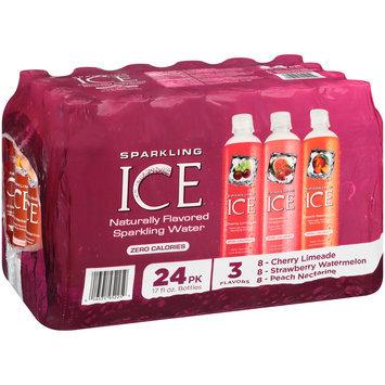 Sparkling Ice® Cherry Limeade/Strawberry Watermelon/Peach Nectarine Sparkling Water 24-17 fl. oz. Plastic Bottles