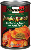 Schnucks Beef Ravioli In Tomato & Meat Sauce Ravioli Jumbo 15 Oz Can
