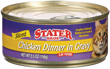 Stater Bros. Sliced Chicken Dinner In Gravy Cat Food 5.5 Oz Can