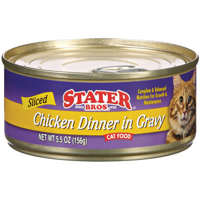 Stater Bros. Sliced Chicken Dinner In Gravy Cat Food 5.5 Oz Can