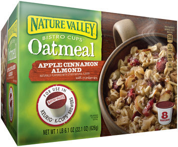 Nature Valley Bistro Cups Oatmeal for the Keurig® Machine Apple Cinnamon Almond, 22.1 Ounce