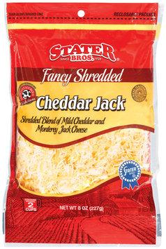 Stater Bros. Cheddar Jack Fancy Shredded Cheese 8 Oz Peg