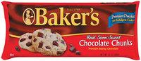 Kraft Baking & Canning Real Semi-Sweet Baker's Chocolate Chunks 12 Oz Bag