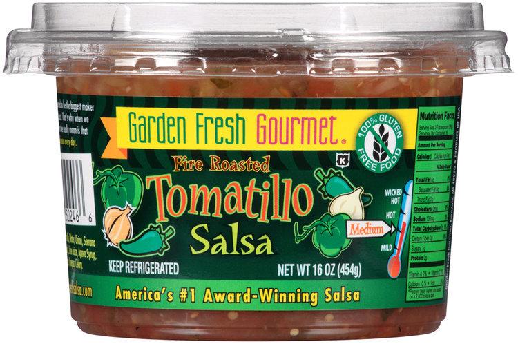 Garden Fresh Gourmet® Fire Roasted Tomatillo Salsa 16 oz. Plastic ...