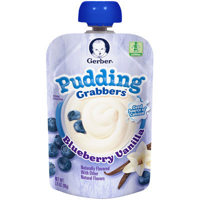Gerber® Grabbers™ Blueberry Vanilla Pudding 3.5 oz. Pouch