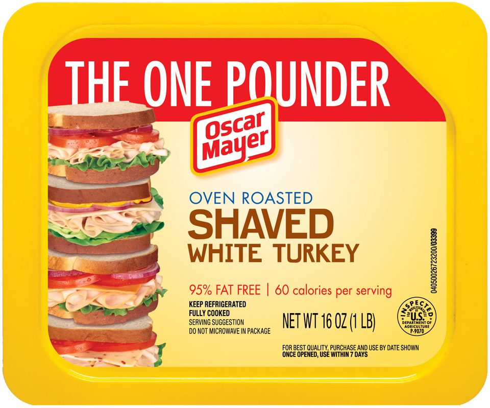 Oscar Mayer Oven Roasted Shaved White Turkey Cold Cuts 16 oz. Tray
