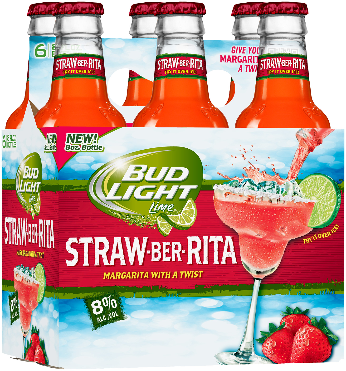 Bud Light Lime® Straw-BER-Rita 6-8 fl. oz. Bottles