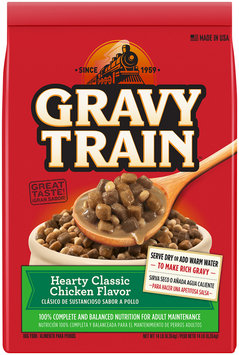 Gravy Train Hearty Classic Chicken Flavor Dry Dog Food, 14-Pound