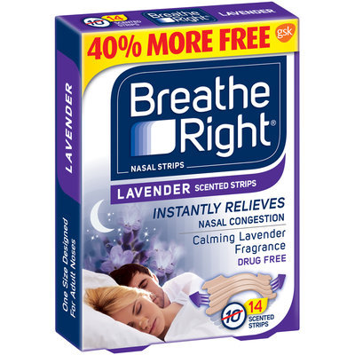 Breathe Right® Lavender Scented Nasal Strips