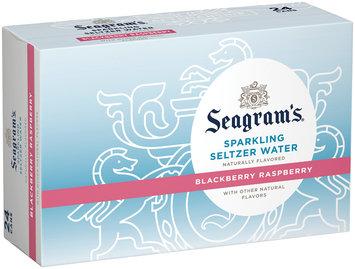 Seagram's Blackberry Raspberry Sparkling Seltzer Water 24 pk, 12 oz Cans