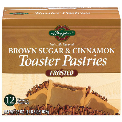 Haggen Brown Sugar & Cinnamon Frosted 12 Ct Toaster Pastries 22 Oz Box