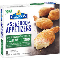 Gorton's® Garlic & Herb Cheese Stuffed Shrimp Seafood Appetizers 8 oz. Box