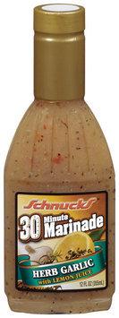 Schnucks Herb Garlic W/Lemon Juice 30 Minute Marinade 12 Oz Plastic Bottle