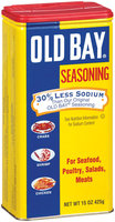 Old Bay For Seafood/Poultry/Salads/Meats Seasoning 30% Less Sodium 15 Oz Shaker