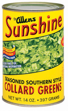 The Allens Sunshine Seasoned Southern Style Collard Greens 14 Oz Can
