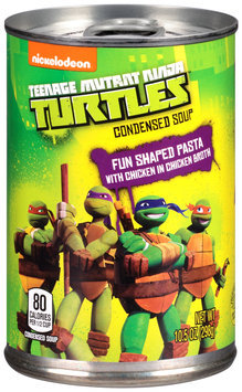 Nickelodeon® Teenage Mutant Ninja Turtles™ Shaped Pasta with Chicken in Chicken Broth Condensed Soup 10.5 oz. Pull-Top Can