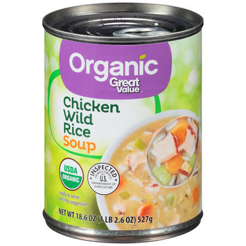 Great Value™ Organic Chicken Wild Rice Soup 18.6 oz. Pull-Top Can