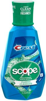 Crest Scope Classic Mouthwash Cool Peppermint, 1 L