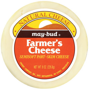 May-Bud Farmer's Semisoft Part-Skim Cheese 8 Oz Wheel